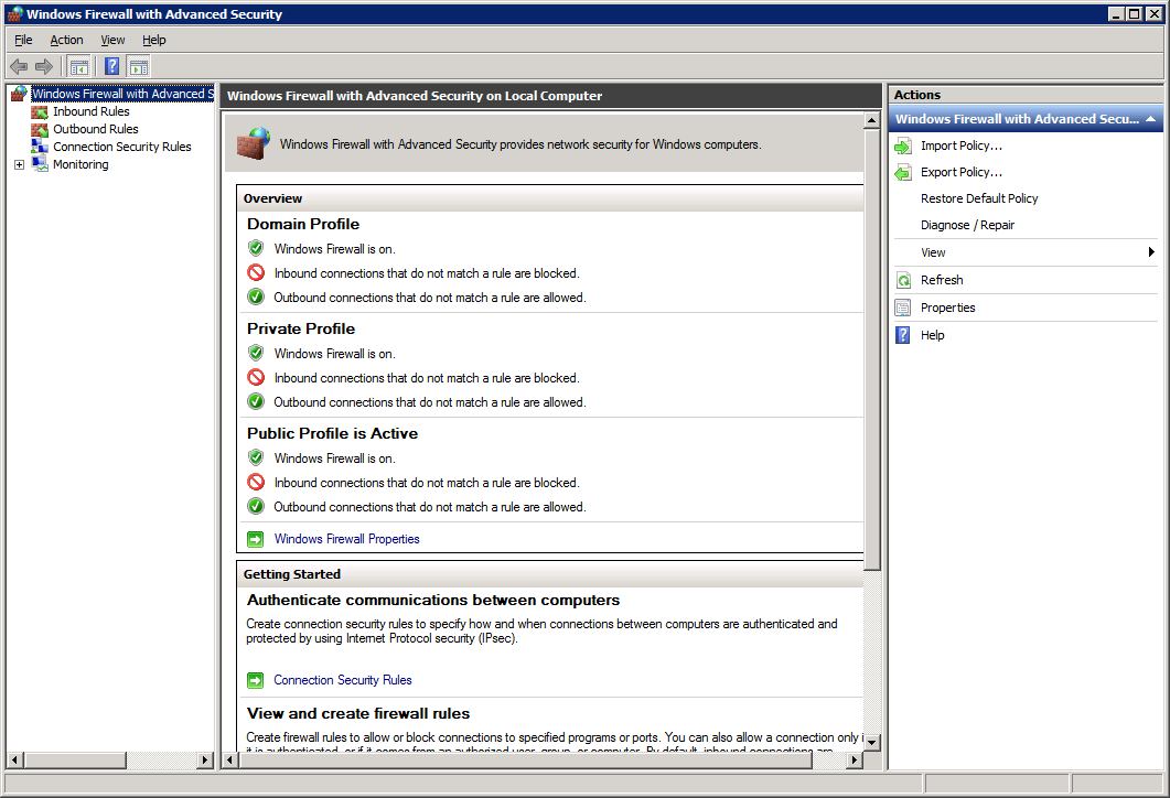 How to open firewall ports on Windows Server 2008 R2 Enterprise - Windows Firewall With Advanced Security