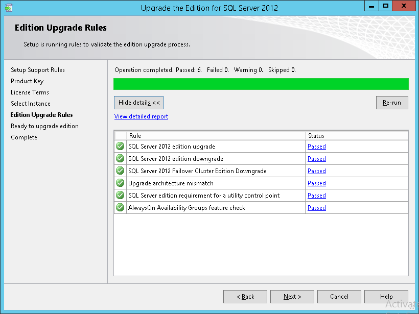 How to apply SQL Server 2012 licences - Edition Upgrade Rule