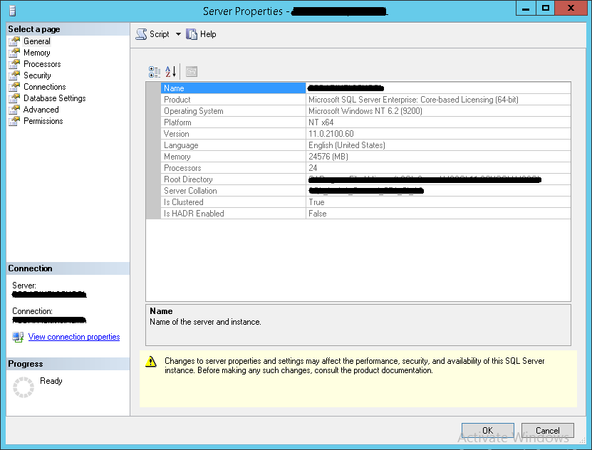How to apply SQL Server 2012 licences - Server Property