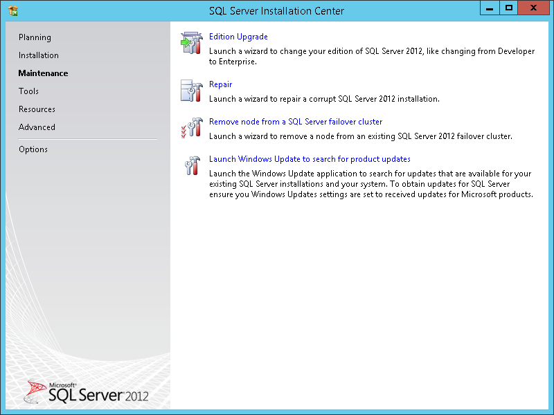 How to apply SQL Server 2012 licenses - Maintenance