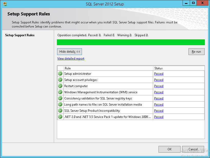How to apply SQL Server 2012 licenses - Setup Support Rule