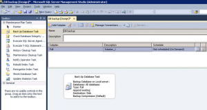 SQL Server Backup Database Maintenance Plan