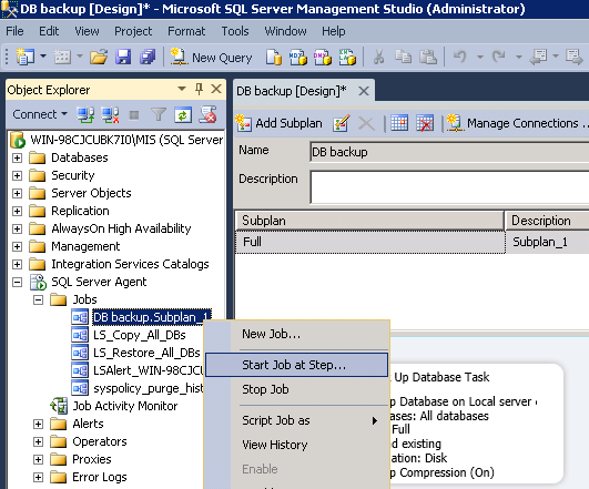 how to take backup in server 2008