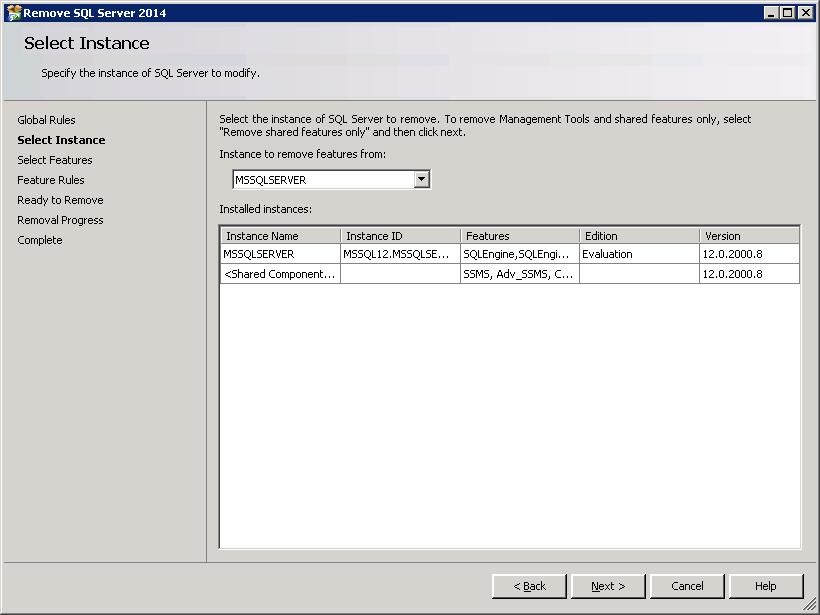 remove sql server instance manually