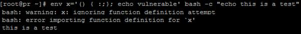 Bash Code Injection Vulnerability CVE-2014-7169