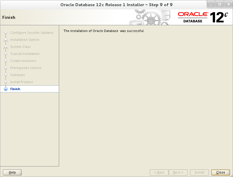 Installation of Oracle 12c on Oracle Linux 7