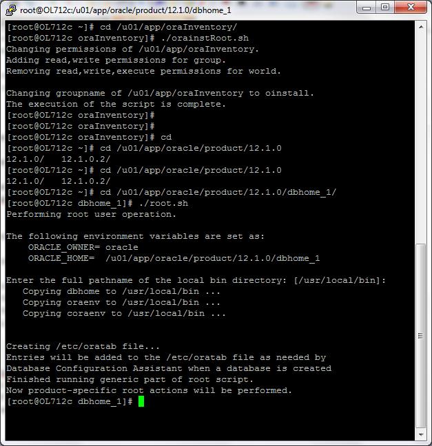 Oracle script