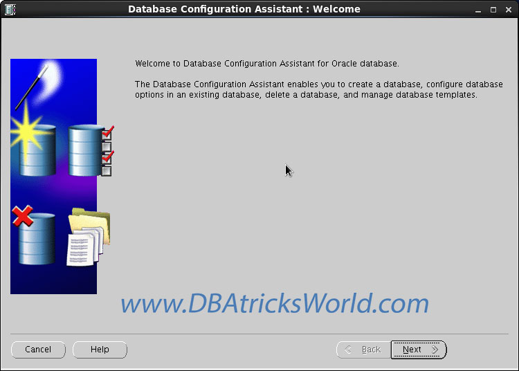 Database Configuration Assistant - Welcome