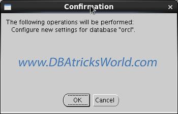 DBCA - Confirmation