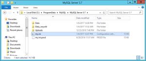 MySQL - my.ini